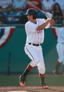 Former San Jose outfielder Jarrett Parker had a three-homer game on September 26 in Oakland