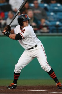Adam Duvall hit 30 home runs this year to set the San Jose Giants single-season record