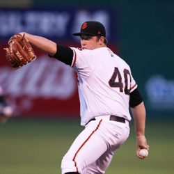 Clayton Blackburn could be one of several top prospects in the Giants starting rotation this season
