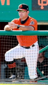 Former San Jose manager Andy Skeels will serve as Triple-A Fresno's hitting coach in 2014