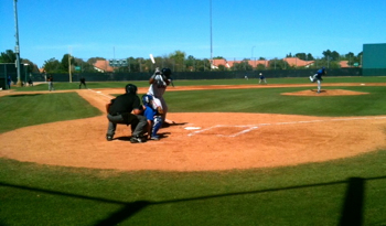Angel Villalona at the plate in the third inning of today's game