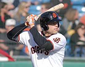 Mac Williamson was San Jose's co-MVP after leading the team in home runs (25) and RBI's (89)