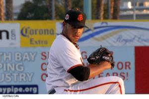 Edwin Escobar had a spectacular 2013 season pitching for both San Jose and Richmond