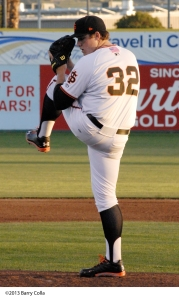 Former SJ Giant Clayton Blackburn won the Pacific Coast League ERA title last season while pitching for Sacramento