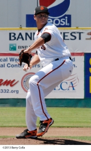 Kyle Crick worked seven scoreless innings in the Game 2 win over Visalia