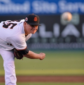 Top prospect Kyle Crick is a candidate to be added to San Francisco's 40-man roster tomorrow