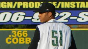 Kendry Flores was third in the South Atlantic League in strikeouts (137) and fifth in ERA (2.73) last season (photo courtesy MiLB.com)