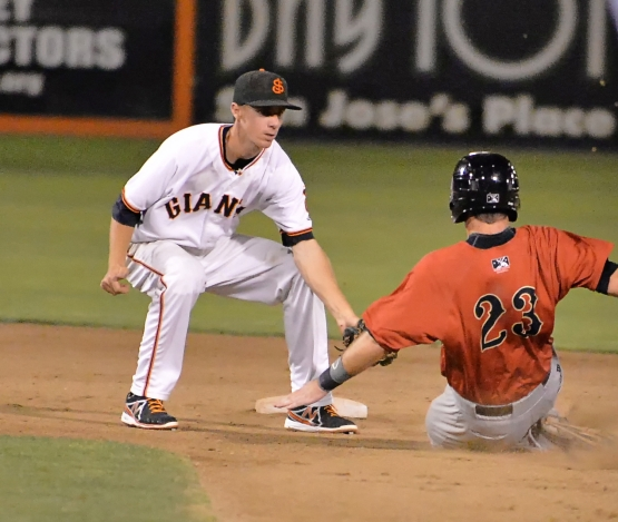 Duffy debuted in the major leagues (August 1, 2014) less than one year after playing in San Jose