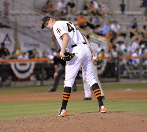 Starting pitcher Pat Young is one of several players from the 2013 draft class who could open the season in San Jose