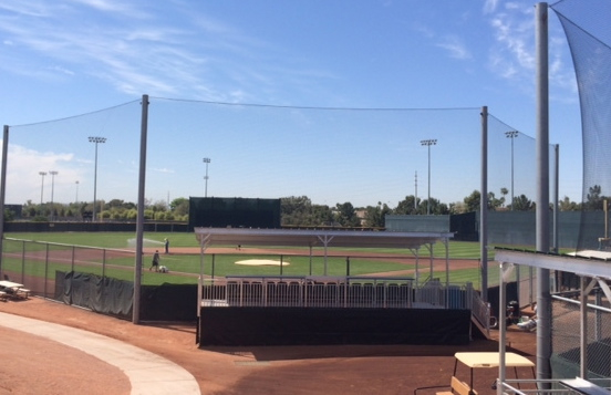 The primary field at the Giants minor league facility