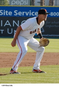 2014 San Jose third baseman Mitch Delfino will also participate in big league camp this spring