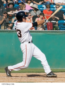 Blake Miller was named the 2014 San Jose Giants MVP after hitting .299 with eight home runs and 73 RBI's