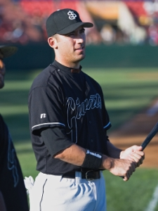 Travis Ishikawa was a member of the 2005 and 2007 San Jose Giants championship teams