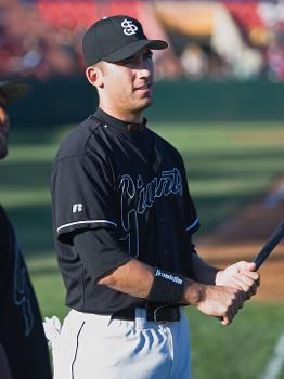 Travis Ishikawa was on the 2005 and 2007 San Jose Giants championship teams
