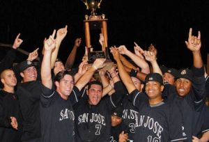 The 2010 San Jose Giants won the California League championship with a dramatic Game 5 victory in Rancho Cucamonga