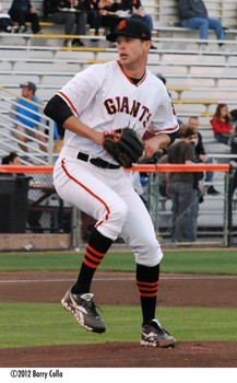 Former SJ Giant pitcher Jack Snodgrass has logged 39 innings in winter ball