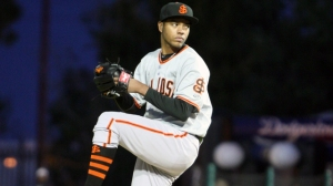 Kendry Flores, traded to Miami on Friday, led the 2014 San Jose staff in strikeouts (photo courtesy MiLB.com)
