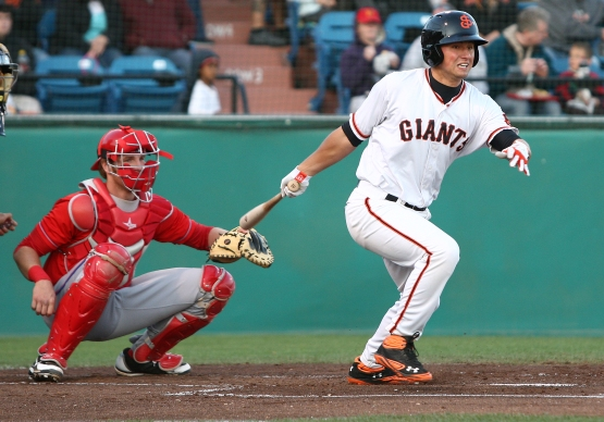 As San Jose's shortstop in 2012, Panik hit .297 with 27 doubles, seven home runs and 76 RBI's to earn co-team MVP honors