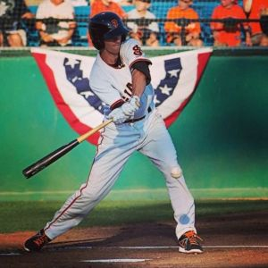 Matt Duffy played in 34 games for the San Jose Giants late in 2013 and hit .294 with five home runs and 19 RBI's