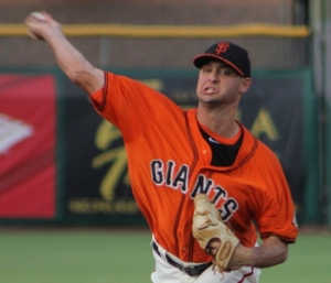 2014 first round draft pick Tyler Beede could begin his first full professional season in San Jose (photo courtesy MiLB.com)