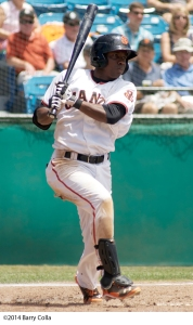 Former San Jose Giants outfielder Jesus Galindo has 250 career stolen bases over seven professional seasons