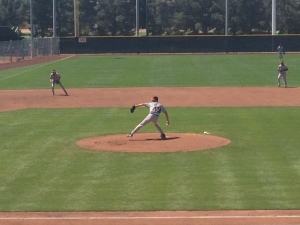 "2014 first round pick Tyler Beede fired four scoreless innings in today's ""High-A"" game"