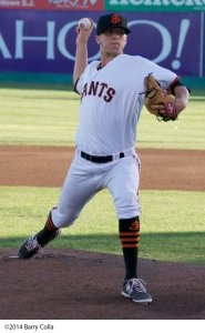 Nick Vander Tuig ended the 2014 season in the San Jose rotation and could return to the Cal League this spring
