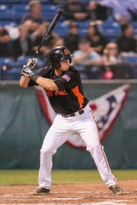 Second baseman Austin Slater hit a combined .294 between San Jose and Richmond last season