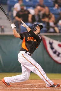 Ryan Lollis returned to the SJ Giants last week after a brief stint with Triple-A Sacramento