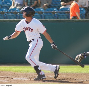 Hunter Cole led the Giants with a .319 batting average during the first half