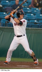 Shortstop Christian Arroyo has been named 2015 San Jose Giants team MVP