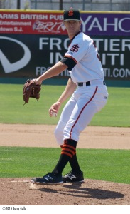 Chase Johnson was named California League Pitcher of the Week on Monday