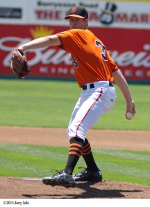 2015 San Jose Giants Pitcher of the Year Chase Johnson is rated the #15 prospect in the system by MLB.com