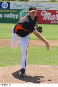 All-Star relief pitcher Dan Slania is one of four 2015 San Jose Giants that will play for the Scottsdale Scorpions in the AFL