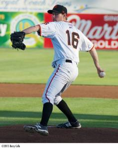 Jason Forjet is five strikeouts away from setting the San Jose Giants career record