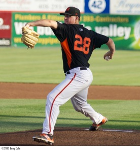 Martin Agosta led the Giants and was seventh in the California League with 125 strikeouts