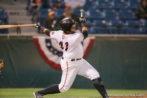 Angel Villalona leads the Giants with four home runs during the postseason