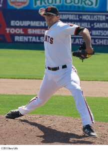 Jake Smith collected 16 saves and had 118 strikeouts as a late-inning reliever for the Giants this season