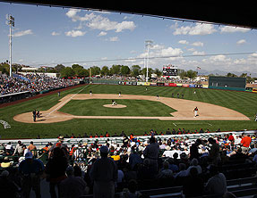 Giants prospects play their home AFL games at Scottsdale Stadium - the spring training home of the San Francisco Giants