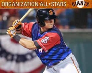 Christian Arroyo has been named to the MiLB.com Giants Organizational All-Star team