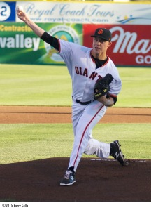 Jordan Johnson is scheduled to make the start for the Giants in Monday's series opener at Lake Elsinore