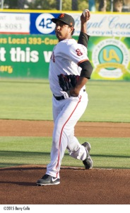 Jose Reyes made 14 starts with San Jose last year and is a candidate to return to the Cal League