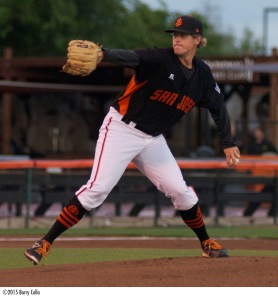 D.J. Snelten ranked second in the Giants farm system with 126 strikeouts last season