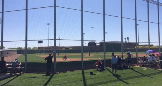 The Diamondbacks minor league complex with Salt River Field located behind left center