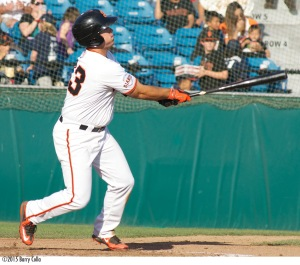 Dylan Davis hit 12 home runs last season between San Jose and Augusta