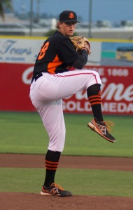 D.J. Snelten ranked second in the San Francisco Giants farm system with 126 strikeouts last season
