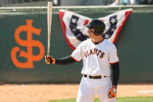 All-Star first baseman Chris Shaw hit 16 home runs for the Giants before a late-June promotion to Double-A