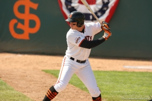 First baseman Chris Shaw was one of four Giants named to the California League All-Star team this week