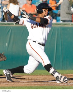 Miguel Gomez provided a lift to the Giants lineup during the second half
